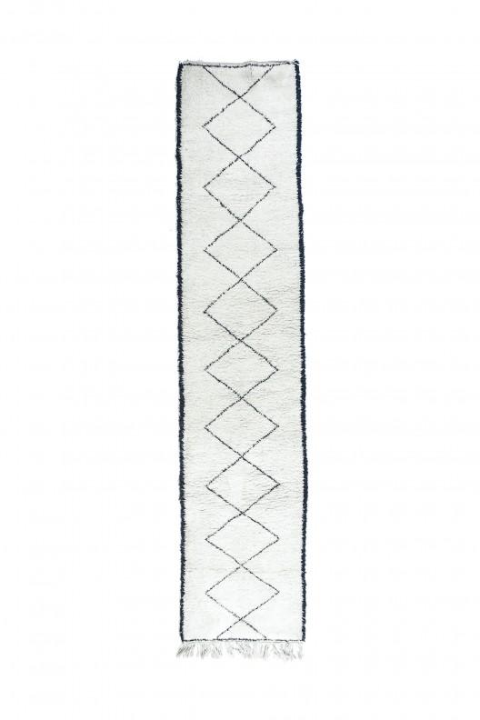 Tappeto Berbero Beni Ourain - 420x90 cm - 165.4X35.4 in