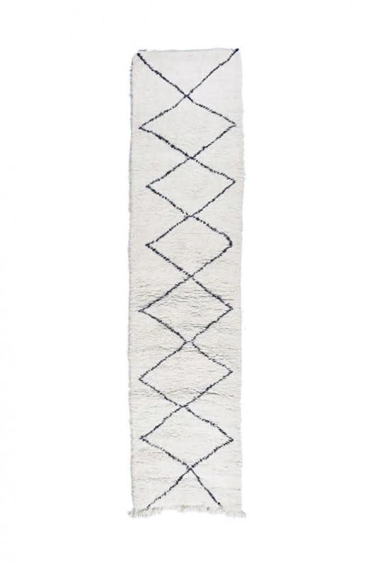 Tappeto Berbero Beni Ourain - 350x84 cm - 137.8X33.1 in