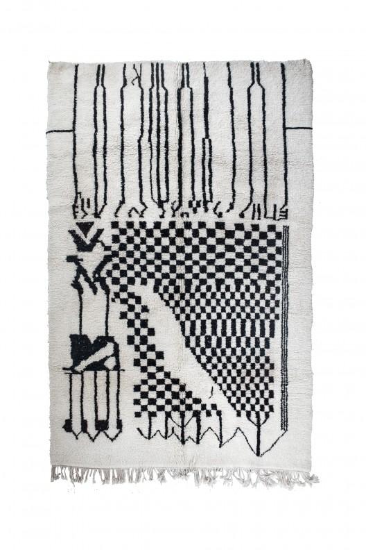 Tappeto Berbero Beni Ourain - 325X215cm - 128X84.6 in