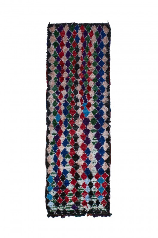 Tappeto Berbero Boucherouite - 270x90 cm - 106.3X35.4 in