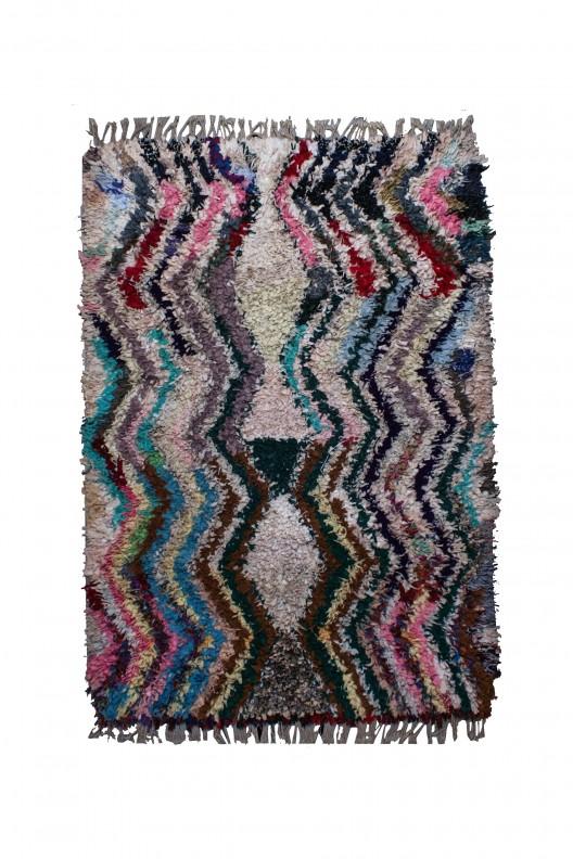 Tappeto Berbero Boucherouite - 230x155 cm - 90.6X61 in