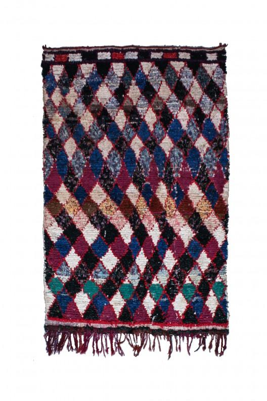 Tappeto Berbero Boucherouite - 190x120 cm - 74.8X47.2 in