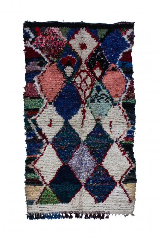 Tappeto Berbero Boucherouite - 235x125 cm - 92.5X49.2 in