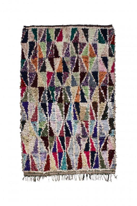 Tappeto Berbero Boucherouite - 245x175 cm - 96.5X68.9 in