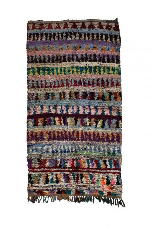 Tappeto Berbero Boucherouite - 270x150 cm - 106.3X59.1 in