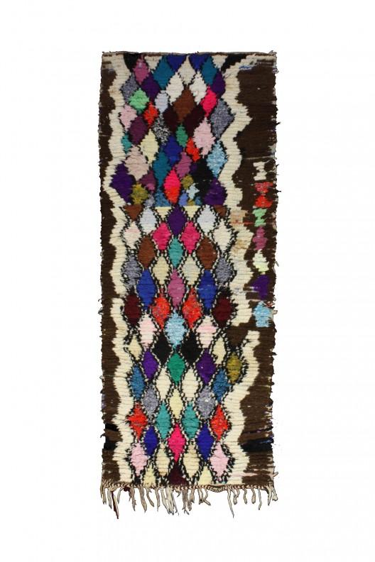 Tappeto Berbero Boucherouite - 290x100 cm - 114.2X39.4 in