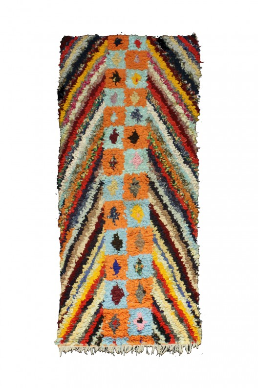 Tappeto Berbero Boucherouite - 255x100 cm - 100.4X39.4 in