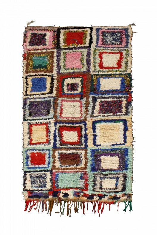 Tappeto Berbero Boucherouite - 230x130 cm - 90.6X51.2 in