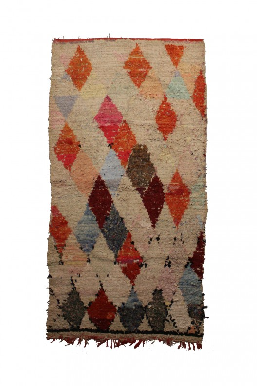 Tappeto Berbero Boucherouite - 236X115 cm - 92.9X45.3 in