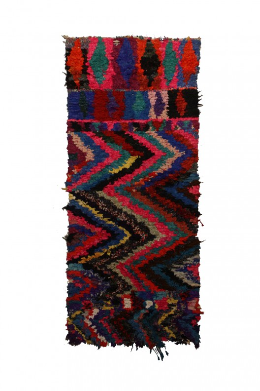 Tappeto Berbero Boucherouite - 255X118 cm - 100.4X46.5 in