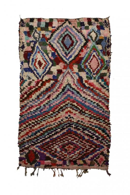 Tappeto Berbero Boucherouite - 243X161 cm - 95.7X63.4 in