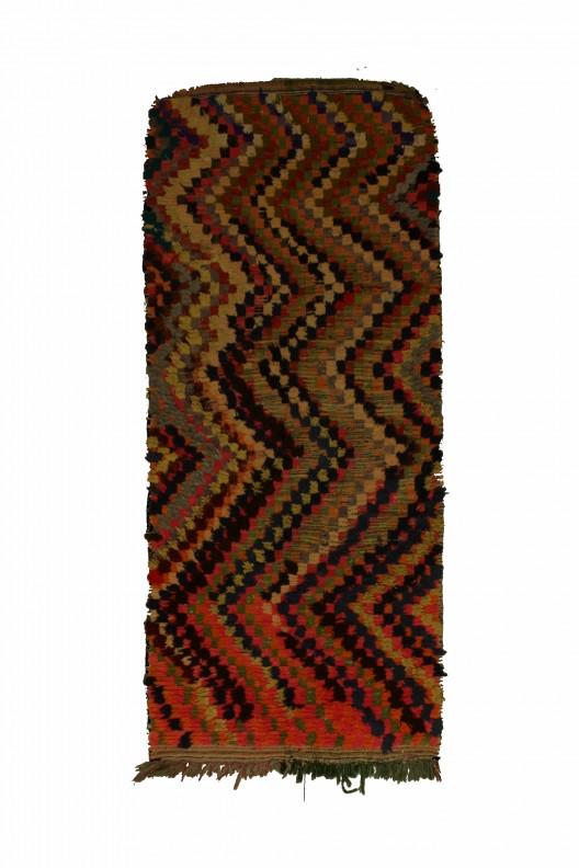Tappeto Berbero Boucherouite - 230x102 cm - 90.6X40.2 in