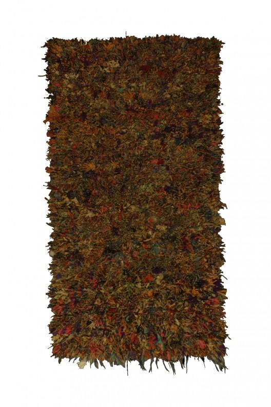 Tappeto Berbero Boucherouite - 195x112 cm - 76.8X44.1 in