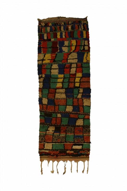 Tappeto Berbero Boucherouite - 200x83 cm - 78.7X32.7 in