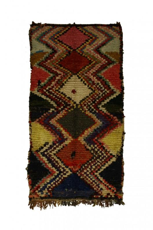 Tappeto Berbero Boucherouite - 235x140 cm - 92.5X55.1 in