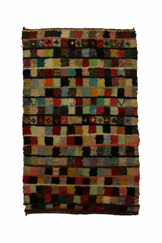 Tappeto Berbero Boucherouite - 255x175 cm - 100.4X68.9 in