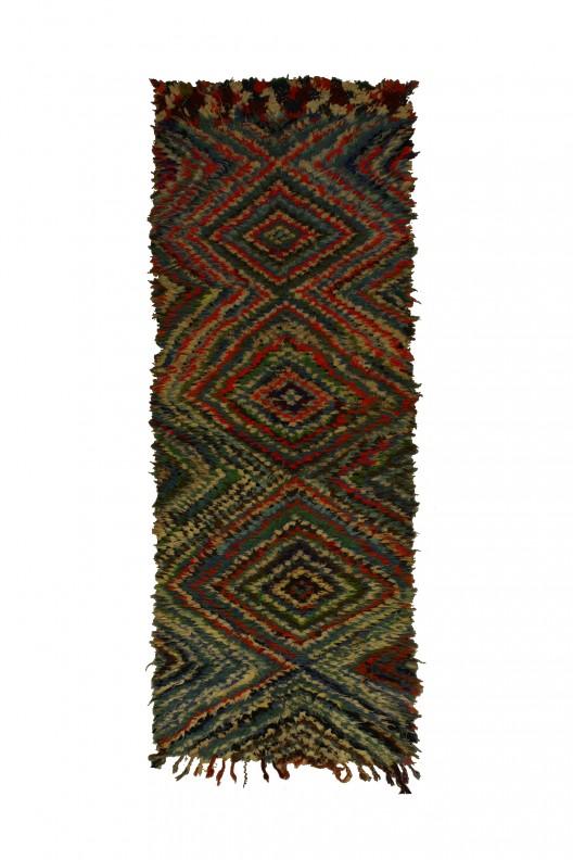 Tappeto Berbero Boucherouite 255x90- cm - 100.4X35.4 in