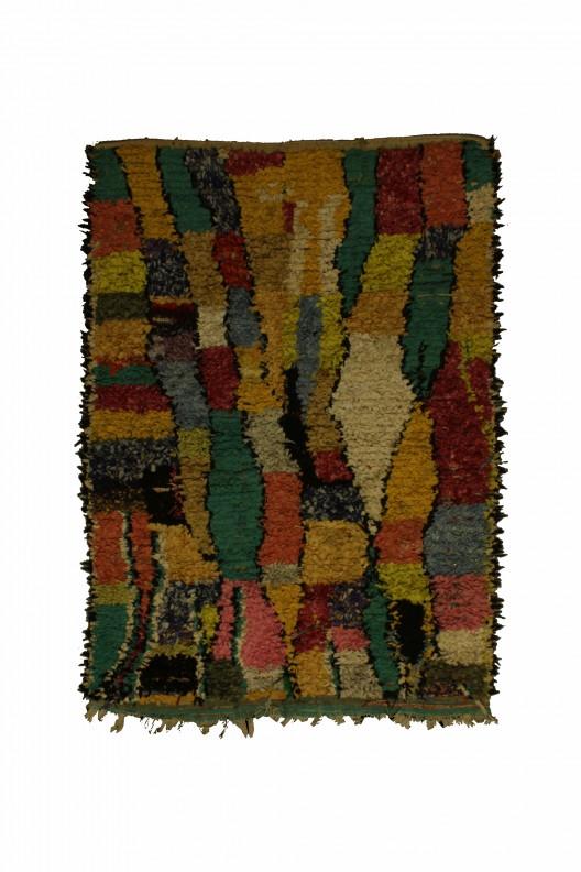 Tappeto Berbero Boucherouite - 205x140 cm - 80.7X55.1 in