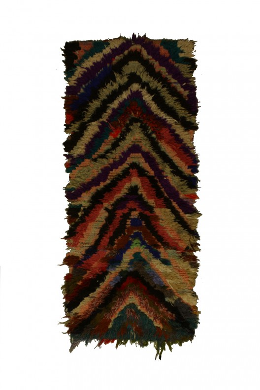 Tappeto Berbero Boucherouite - 220x90 cm - 86.6X35.4 in