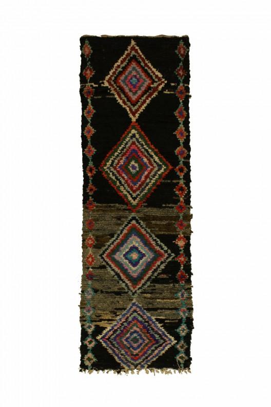 Tappeto Berbero Boucherouite - 300x85 cm - 118.1X33.5 in