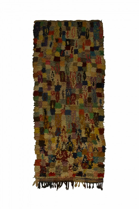 Tappeto Berbero Boucherouite -  240x105 cm - 94.5X41.3 in