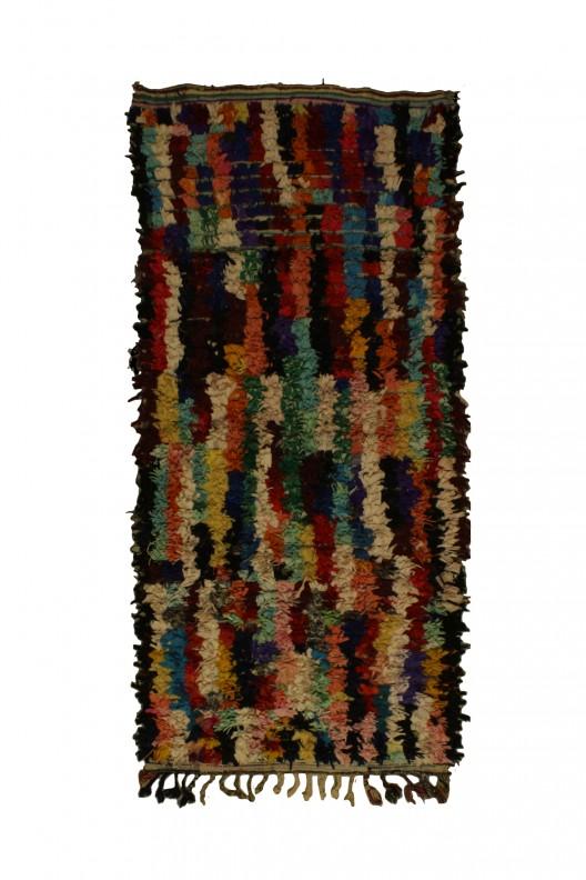 Tappeto Berbero Boucherouite - 205x90 cm - 80.7X35.4 in