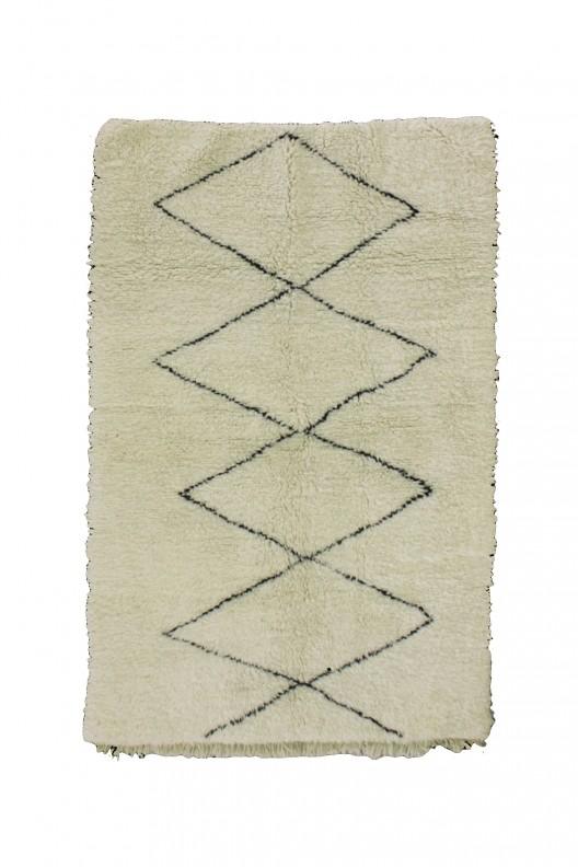 Tappeto Berbero Beni Ourain - 215x125 cm - 84.6X49.2 in