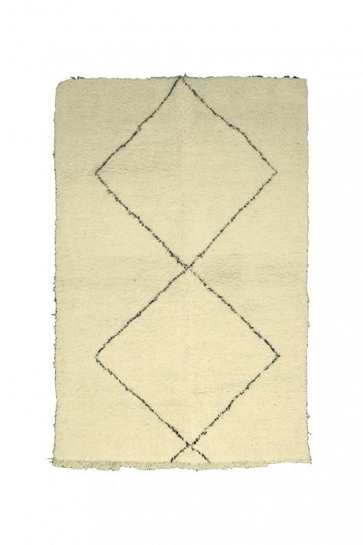 Tappeto Berbero Beni Ourain - 235X155 cm - 92.5X61 in