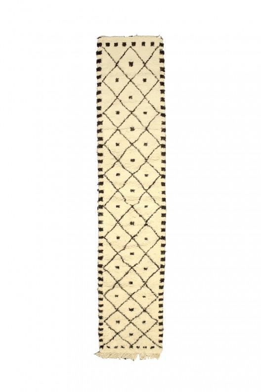 Tappeto Berbero Beni Ourain - 370X80 cm - 145.7X31.5 in