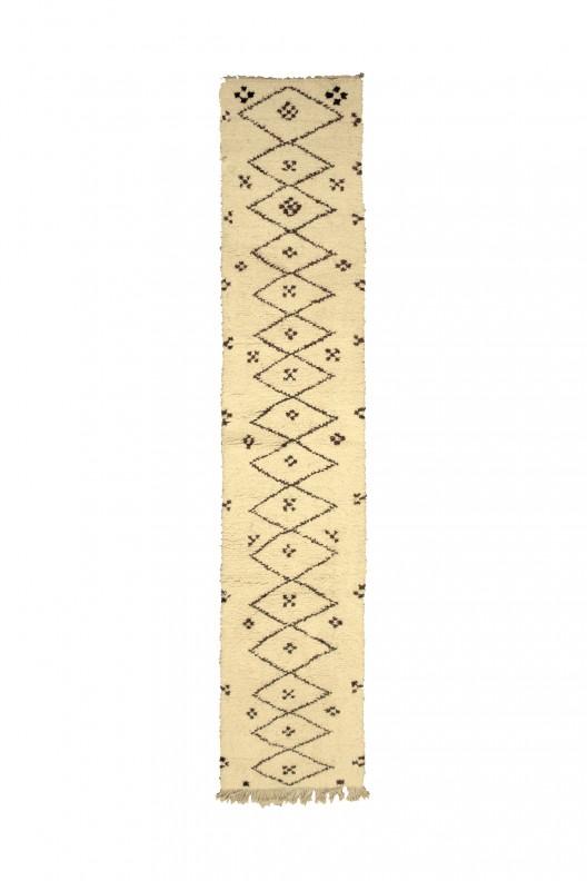 Tappeto Berbero Beni Ourain - 360X85 cm - 141.7X33.5 in