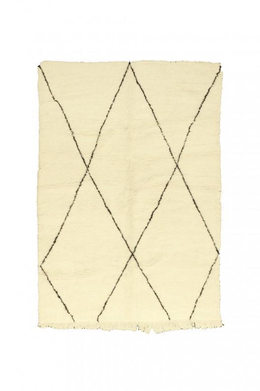 Tappeto Berbero Beni Ourain - 225x160 cm - 88.6X63 in