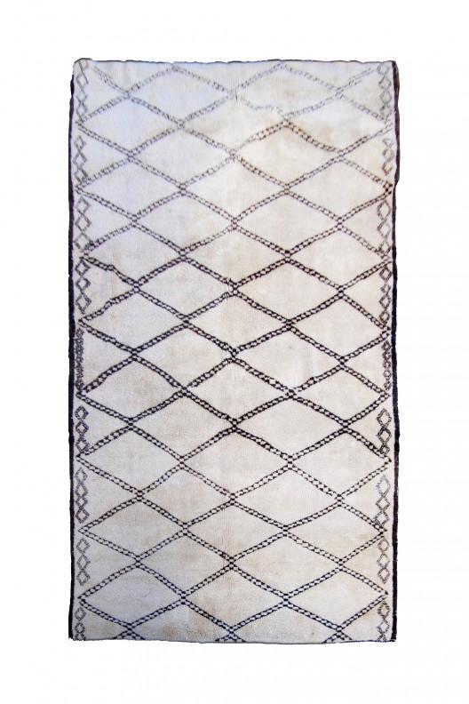 Tappeto Berbero Beni Ourain - 384X190 cm - 151.2X74.8 in