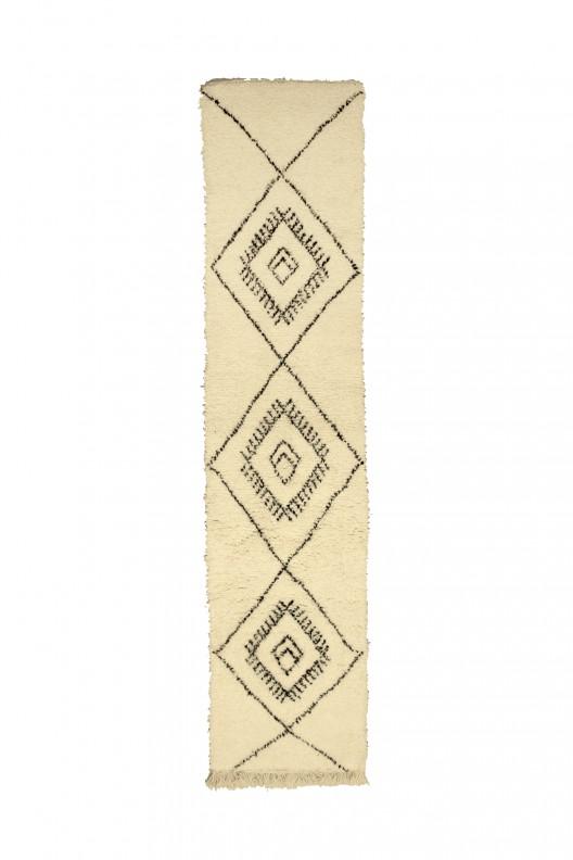 Tappeto Berbero Beni Ourain - 305X72 cm - 120.1X28.3 in