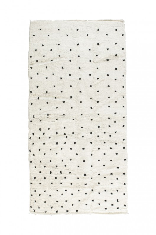 Tappeto Berbero Beni Ourain - 250x140 cm - 98.4X55.1 in