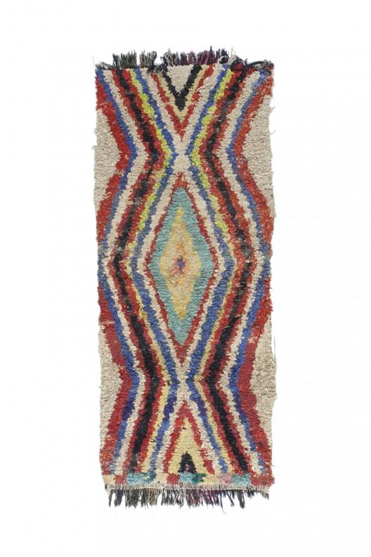 Tappeto Berbero Boucherouite - 250x100 cm - 98.4X39.4 in