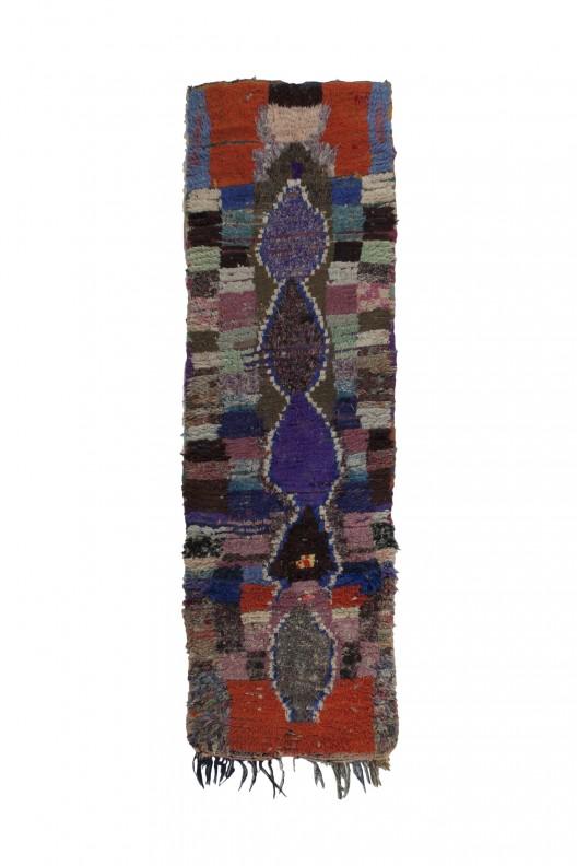 Tappeto Berbero Boucherouite - 270x80 cm - 106.3X31.5 in