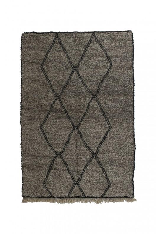 Tappeto Berbero Beni Ourain - 255x170 cm - 100.4X66.9 in