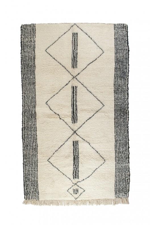 Tappeto Berbero Beni Ourain - 265x172 cm - 104.3X67.7 in