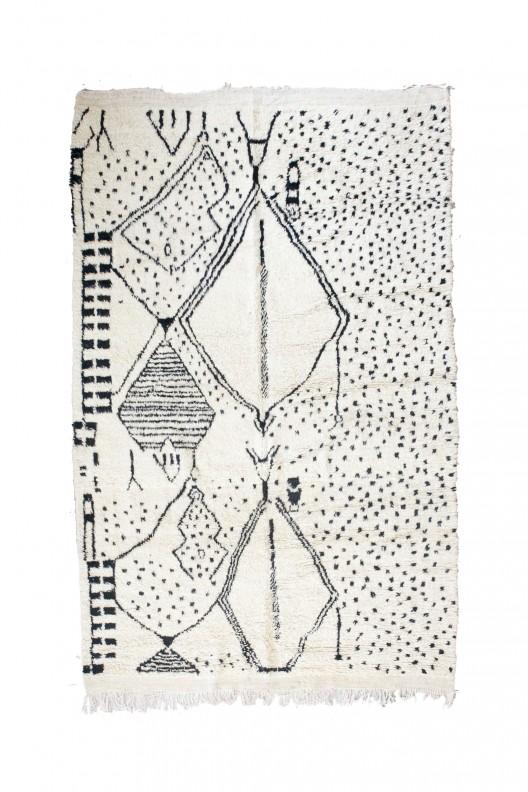 Tappeto Berbero Beni Ourain - 310x205 cm - 122X80.7 in