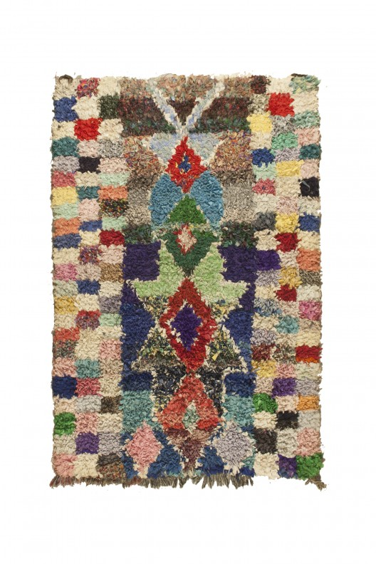 Tappeto Berbero Boucherouite - 250X125 cm - 98.4X49.2 in