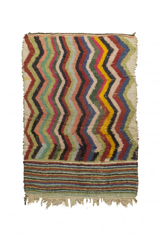 Tappeto Berbero Boucherouite - 235X155 cm - 92.519X61 in