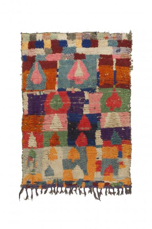 Tappeto Berbero Boucherouite - 230X125 cm - 90.551X49.2 in