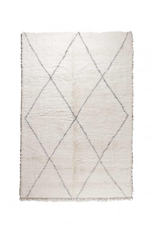 Tappeto Berbero Beni Ourain - 320X220 cm - 125.984X86.614 in
