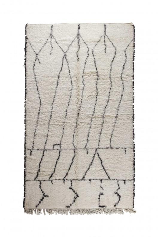 Tappeto Berbero Beni Ourain - 300X190 cm - 118.11X74.803 in