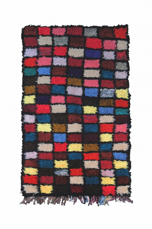 Tappeto Berbero Boucherouite - 192X96 cm - 75.5904X37.7952 in