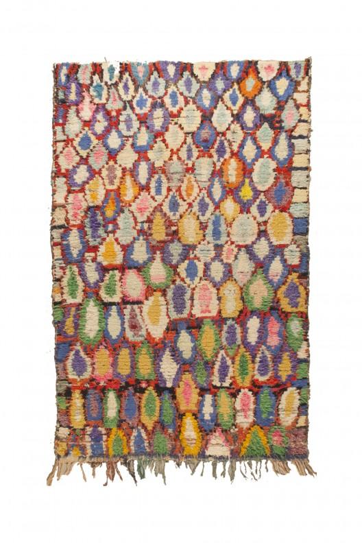Tappeto Berbero Boucherouite - 235X155 cm - 92.5195X61.0235 in