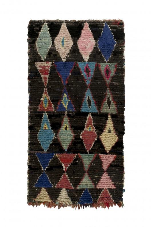 Tappeto Berbero Boucherouite - 195X110 cm - 76.7715X43.307 in