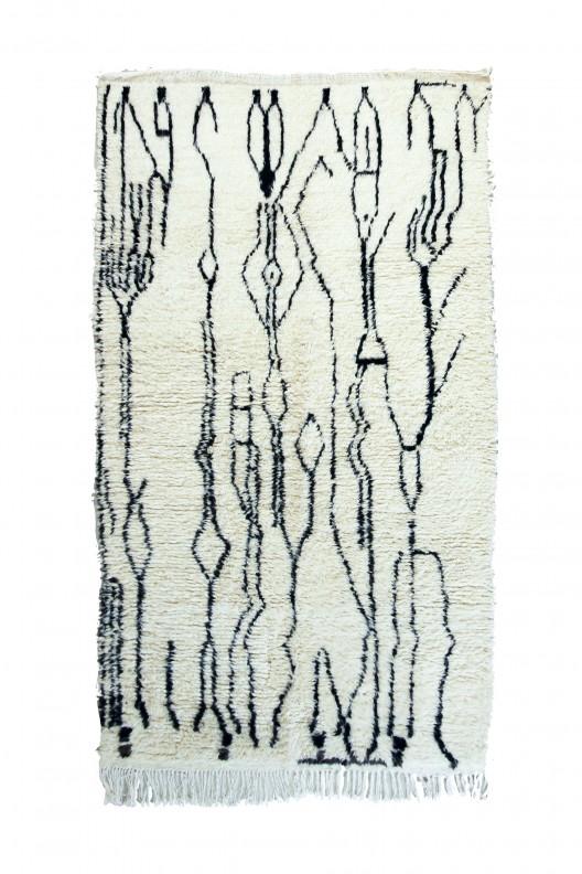 Tappeto Berbero Beni Ourain - 245x146 cm - 96.4565X57.4802 in