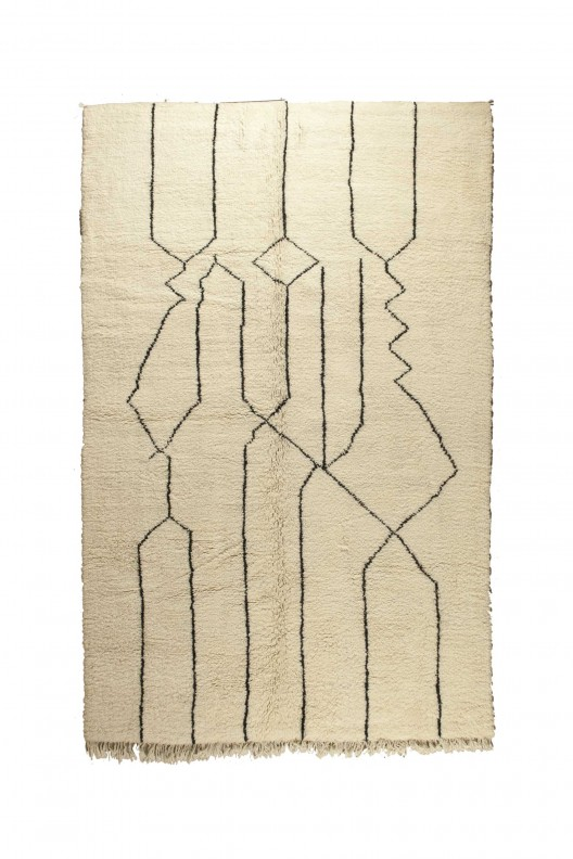 Tappeto Berbero Beni Ourain - 305X205 cm - 120.0785X80.7085 in