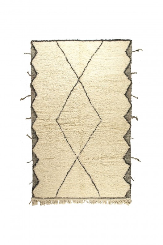 Tappeto Berbero Beni Ourain - 335X210 cm - 131.8895X82.677 in